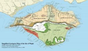 Carte Géologique de l'Ile de Wight