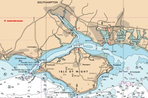 Carte nautique / ile de Wight - Solent