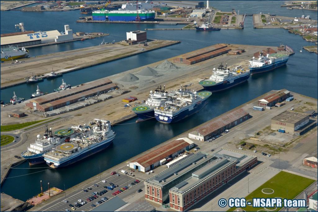 geosail CGG 2016 Fleet of Seismic Vessels @Dunkerque